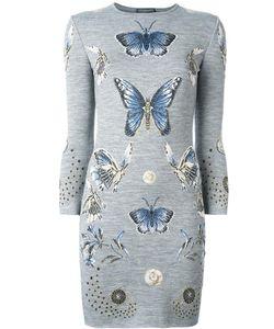 Alexander McQueen | Butterfly Jacquard Knit Dress Xs Wool/Silk/Polyamide/