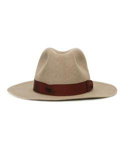 Borsalino | Strap Detail Fedora Hat 59 Beaver Fur