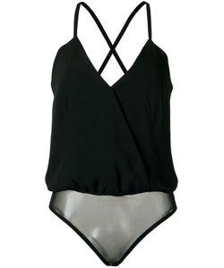 ANDREA MARQUES | Lace-Up Bodysuit 42 Viscose/Acetate