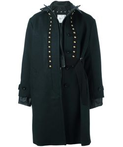 Sacai | Leather Trimmed Coat 2 Leather/Cupro/Wool