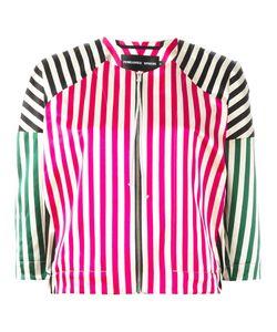 Penelophe'S Sphere | Striped Bomber Jacket Medium Cotton/Silk
