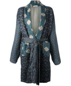 ERMANNO GALLAMINI   Panelled Kimono Coat Small Virgin Wool/Silk
