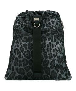 Dolce & Gabbana | Leopard Print Drawstring Backpack Nylon