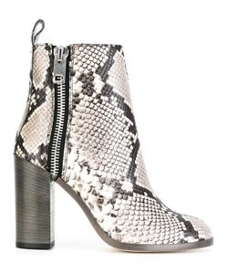 Diesel | Snakeskin Effect Boots 40 Leather