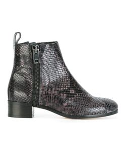 Diesel   Snakeskin Effect Ankle Boots 41 Leather