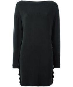 Diesel | Ruffle Detail Dress Xs Cupro/Rayon/Spandex/Elastane