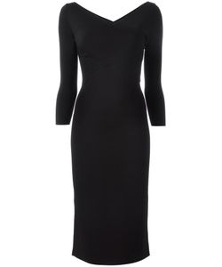 Theory | V-Neck Midi Dress Medium Nylon/Spandex/Elastane/Rayon