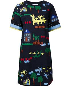 Muveil | Printed T-Shirt Dress 38 Cotton