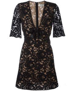 Saint Laurent | Lace Cocktail Dress 36 Silk/Cotton/Polyamide/Silk
