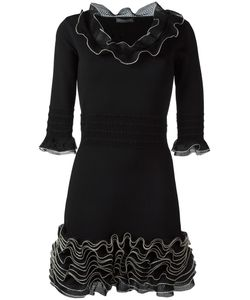 Alexander McQueen | Frill Mini Dress Small Viscose/Polyester/Silk