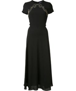 Ralph Lauren | Studded Panel Mid Dress 12 Wool