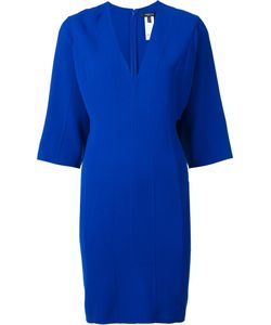 Derek Lam | V-Neck Panelled Dress 42 Elastodiene/Virgin Wool