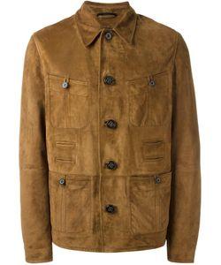 Lanvin | Textured Leather Jacket 52 Leather/Viscose