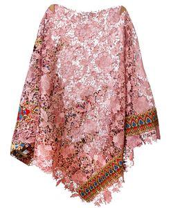 ERMANNO GALLAMINI   Lace Poncho Cotton/Polyester