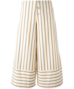 See By Chloe | See By Chloé Striped Cropped Trousers 34 Cotton
