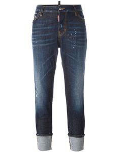 Dsquared2 | London Paint Splatter Jeans 44 Cotton/Spandex/Elastane/Polyester/Leather
