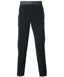 Alexander McQueen | Printed Waistband Straight-Leg Trousers 52 Wool/Mohair/Acetate/Viscose