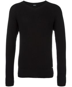 Diesel | Ribbed V-Neck Jumper Medium Cotton