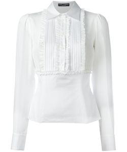 Dolce & Gabbana | Ruffled Bib Shirt 40 Silk/Cotton