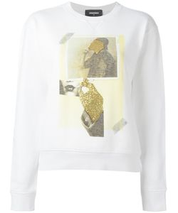 Dsquared2 | Vintage Glitter Collage Sweatshirt Xs Cotton