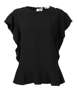 Red Valentino | Ruffled T-Shirt 40 Acetate/Viscose