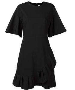 Tibi | Ruffle Detail Asymmetric Dress 8 Polyester/Virgin Wool/Spandex/Elastane