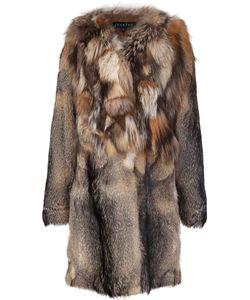 JOCELYN | Contrast Collar Coat Small Polyester/Fox Fur