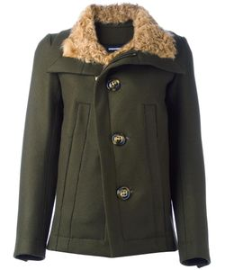 Dsquared2 | Single Breasted Coat 38 Virgin Wool/Polyamide/Polyester/Lamb Fur