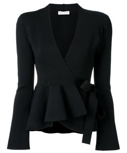 SCANLAN THEODORE | Crepe Knit Wrap Jacket Medium Viscose