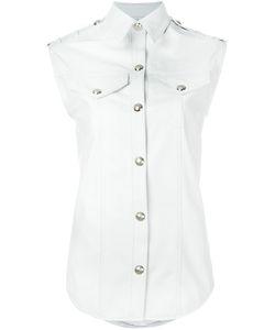 Manokhi | Sleeveless Leather Jacket 36 Lamb Skin