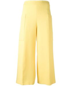 MSGM | Wide-Legged Cropped Trousers 40 Wool/Polyester