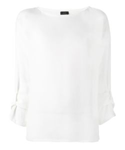 Joseph | Adjustable Tab Blouse 40 Silk
