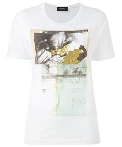 Dsquared2 | Vintage Glitter Collage T-Shirt Medium Cotton