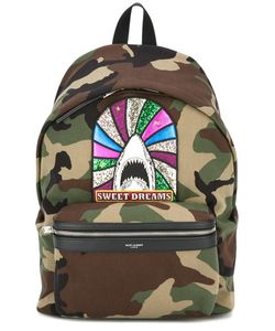 Saint Laurent | Sweet Dreams City Backpack Cotton/Polyester/Brass