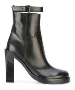 Ann Demeulemeester | Platform Ankle Boots 38.5 Leather