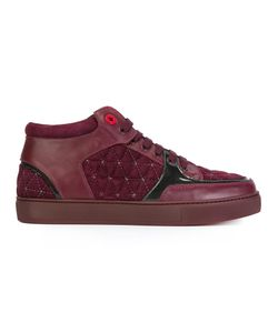 ROYAUMS | Quilted Hi-Top Sneakers 41 Rubber/Suede/Leather