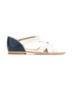 Manolita | Panelled Espadrilles 38 Aligator Leather