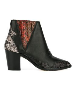Diesel | Snakeskin Detail Boots 36 Leather