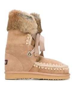 Mou | Eskimo Lace Boots 38 Sheep Skin/Shearling/Suede/Rabbit Fur/Rubber