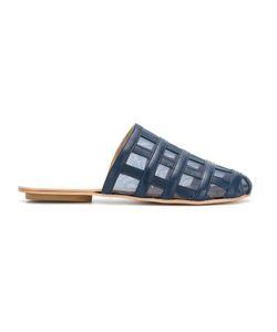 Manolita | Panelled Slippers 35 Aligator Leather