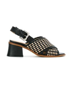Manolita | Block Heels Sandals 35 Aligator Leather