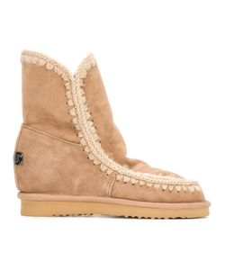 Mou | Eskimo Inner Wedge Boots 39 Sheep Skin/Shearling/Suede/Rubber