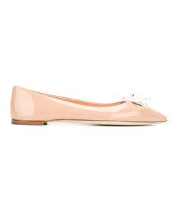 Giuseppe Zanotti Design | Pointed Toe Ballerinas 39 Leather/Patent