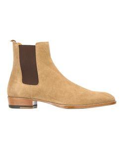 Saint Laurent   Wyatt Chelsea Boots 43 Leather/Calf Suede