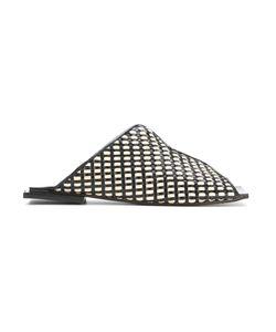 Manolita | Flat Sandals 34 Aligator Leather