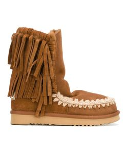 Mou | Eskimo Fringe Boots 40 Sheep Skin/Shearling/Suede/Rubber
