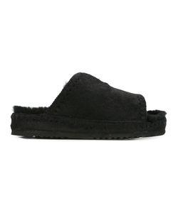 Mou | Furki Slider Sandals 36 Calf Hair/Sheep Skin/Shearling/Rubber