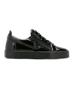 Giuseppe Zanotti Design | Lace-Up Sneakers 39 Patent Leather/Leather/Rubber