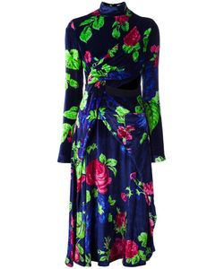MSGM | Wrap Dress 38 Viscose/Silk/Polyester