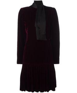 Emanuel Ungaro Vintage | Tie Collar Velvet Dress 40